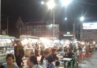 Street food at the night bazaar