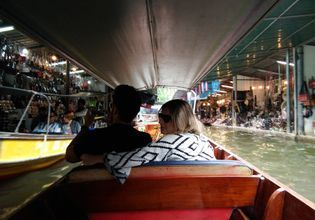 Visit Local Markets: Umbrella Railway Market, Amphawa Floating Market and Damnoen Saduak Floating (Private boat)