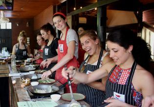 Class in action - cooking