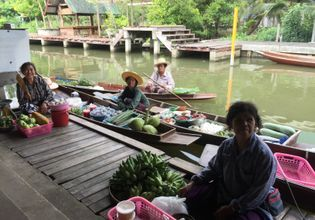 Take a Tour into Maeklong Railway Market & the Local Tha Kha Floating Market!