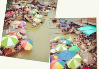 Floating Market on Weekend