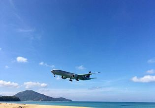 Unseen Spot!! Selfie with Airplane Landing Closely on Mai Khao Beach in Phuket