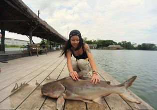 15 kg caught by a young lady
