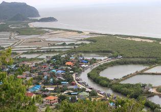View of KuiBuri Fisherman Village