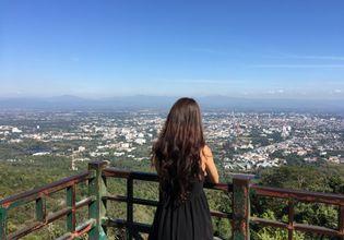 Overlooking Chiangmai city at Doisuthep Viewpoint