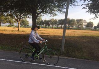 Cycling through greenery