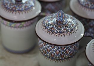 DIY THAI Benjarong (Thai painted porcelain) and beautiful nature of agriculture.