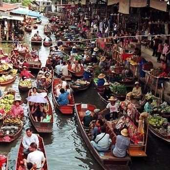 Enjoy floating market vibe :)