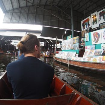 Enjoy boat ride along the canal