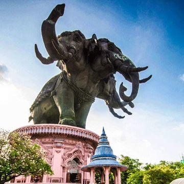 Explore The Giant Three-Headed Elephant - The Ancient City - Bang Pu Seaside