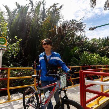 Biking in the Green Area of Bangkok (Afternoon)