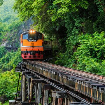 Historical Death Railway in Kanchanaburi province