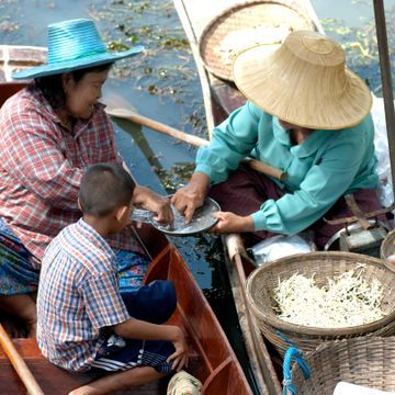 Floating Market & Sampran Riverside for A Glimpse of Thai Cultures and arts