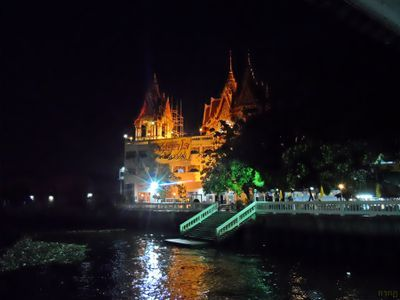 The Bukkalo Temple with night view.