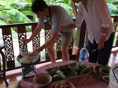 Cooking chicken green curry or Kaengkeawwan
