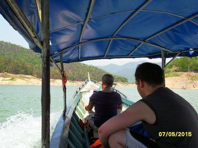 Swimming in Mae-Ngad Dam
