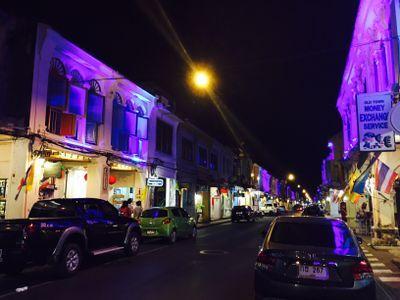 Thalang Rd at Night