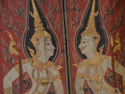 unique Thai art drawing and technique