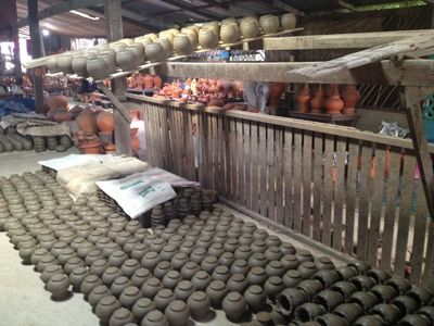 Pottery factory.