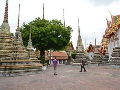 walk along temple yard