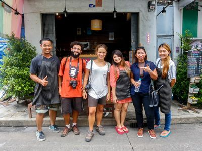 Traveling, eating and sightseeing in an old town community