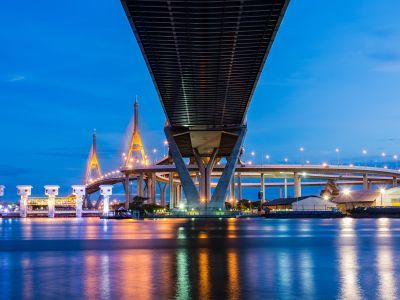 Relax by The Suspension Bridges and The Chao Phraya River