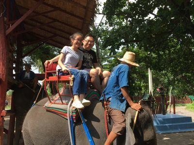Elephant riding @ Damnoen saduak