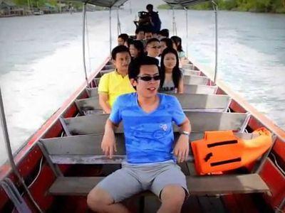 Boating to Bangkok seaview