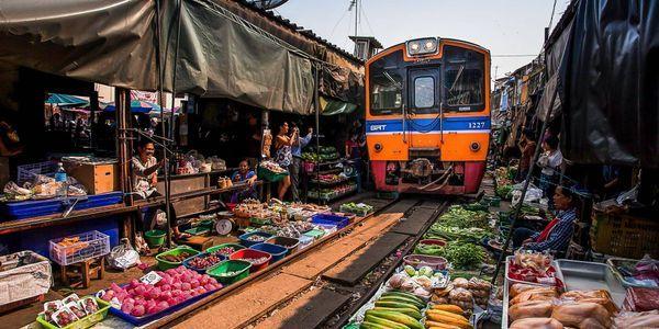 Private Maeklong Railway Market Tour