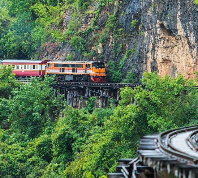 Go On a Train Tour To Kanchanaburi  Province