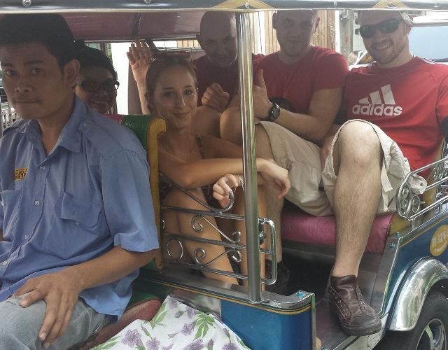 Temple & Food Tour on a Tuk-Tuk with a Thai Chef!