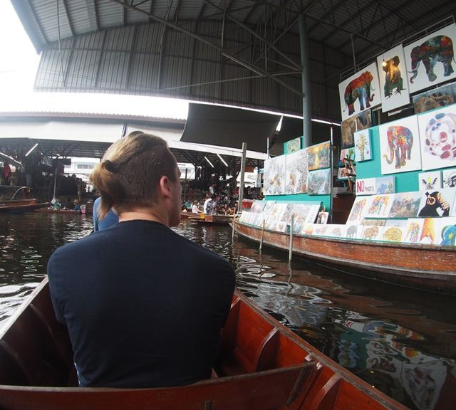 Damnoen Saduak Floating Market, Umbrella Market (Maeklong Railway Market) and Boat Ride to Temple in the Tree!