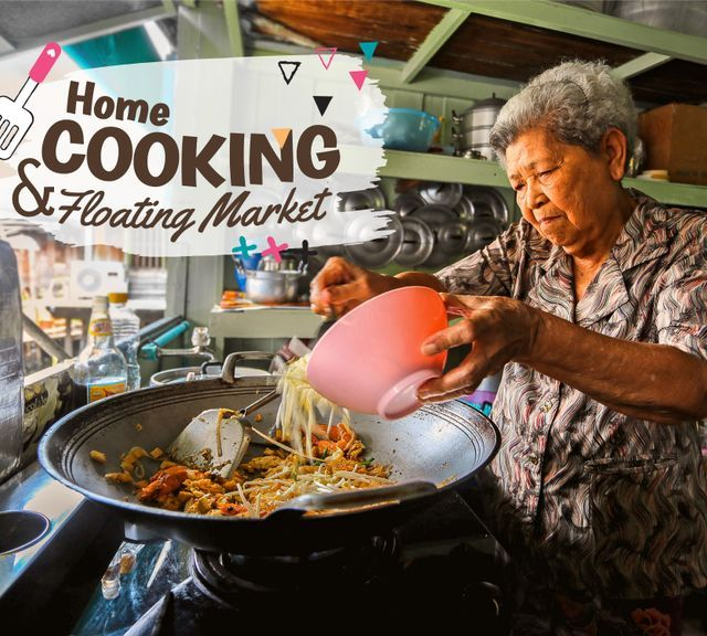 Khlong Lat Mayom Floating Market Tour and Home-Cooked Pad Thai Class