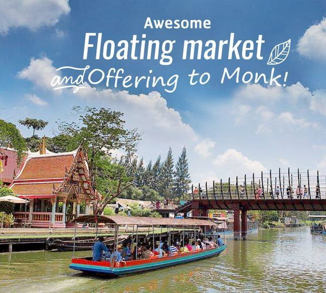 Merit Making at Kwan-Riam Floating Market!