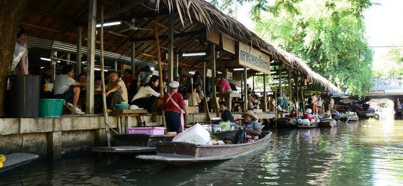Private Tour: Half-Day Local Tour to Khlong Lat Mayom Floating Market from Bangkok