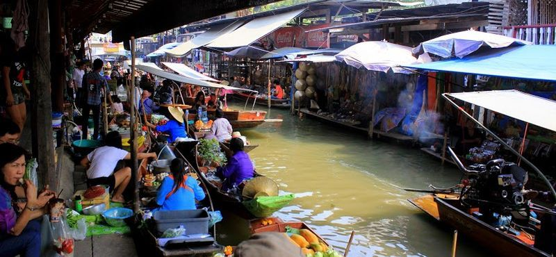 Explore the west of Thailand: Damnoen Saduak Floating Market