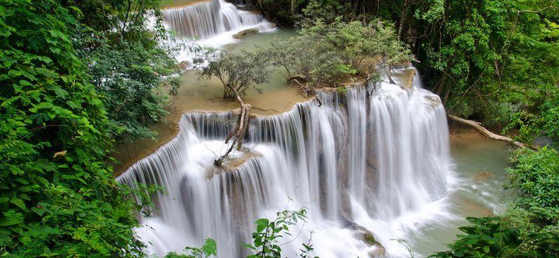 Swim in The Super Nice Waterfall in Kanchanaburi!