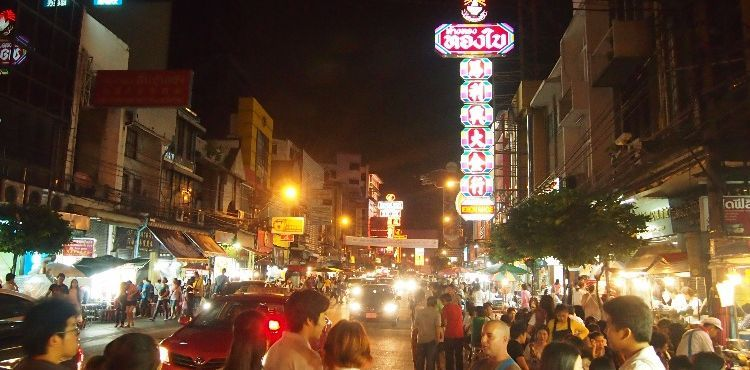 Art Gallery and Street Foods in China Town
