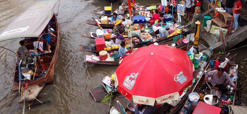 (Private Boat) A Day Trip Amphawa Floating Market of Thailand